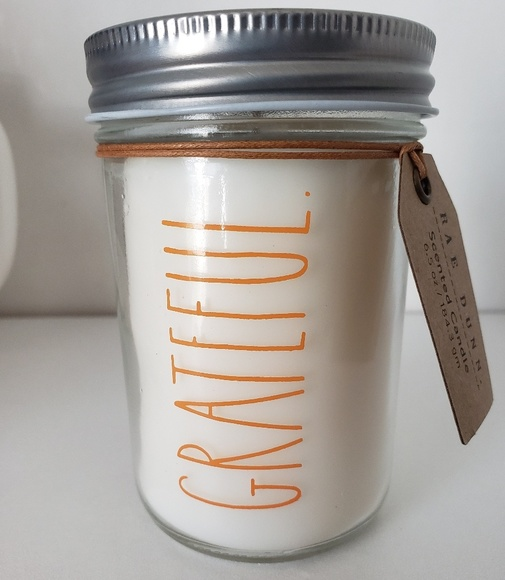 Rae Dunn Other - NEW Rae Dunn GRATEFUL Mason Jar Vanilla Candle